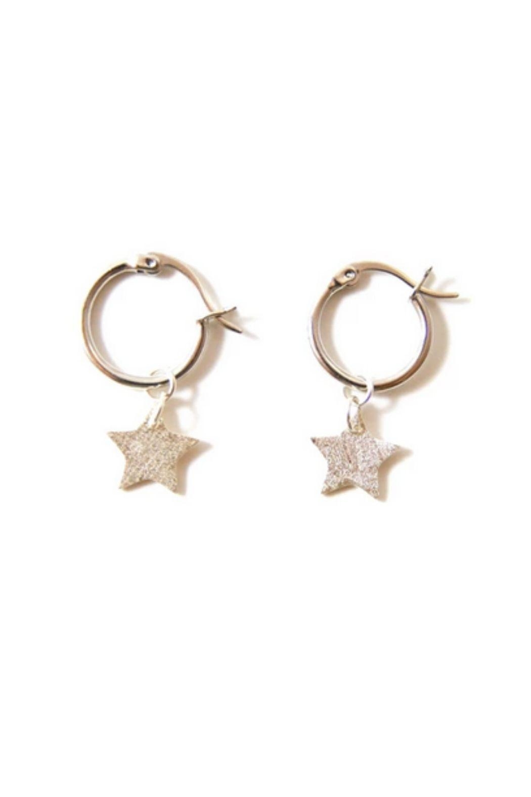 Lets Accessorize Star Hoop Earrings - Front Cropped Image