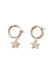 Lets Accessorize Star Hoop Earrings - Product Mini Image
