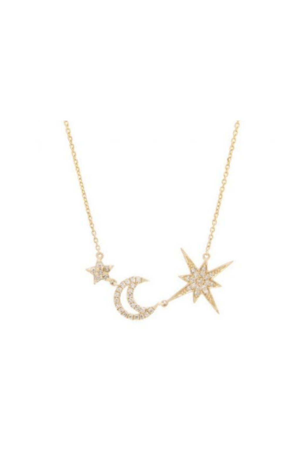 Lets Accessorize Star Moon Necklace - Main Image