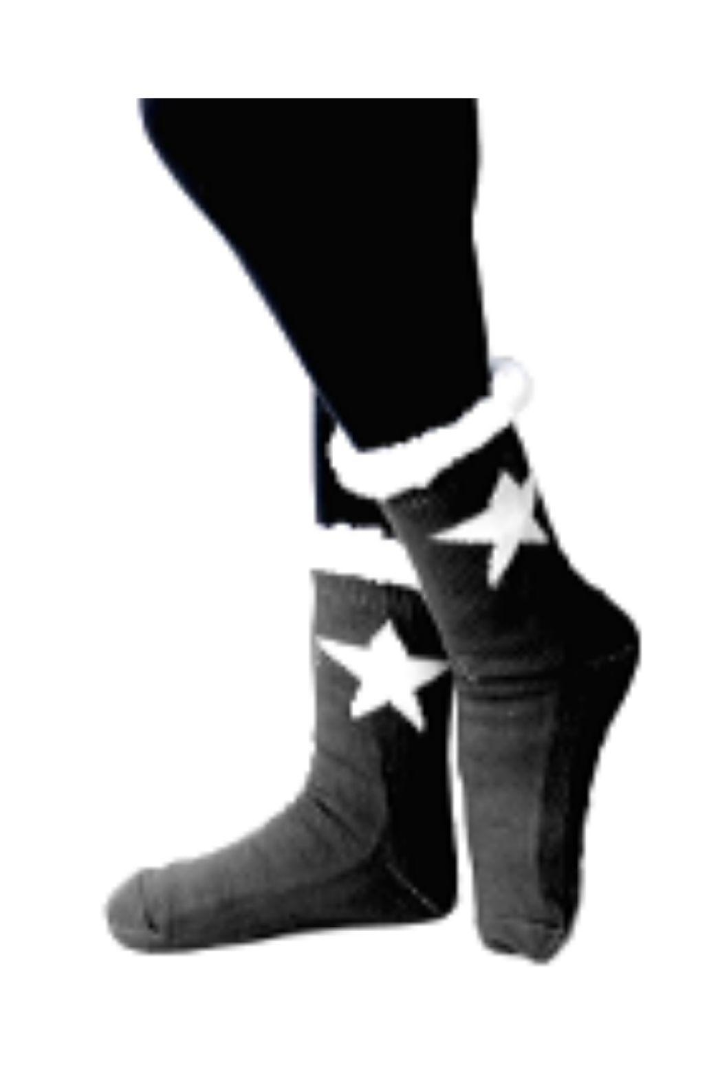 Lets Accessorize Star Slipper Socks - Main Image