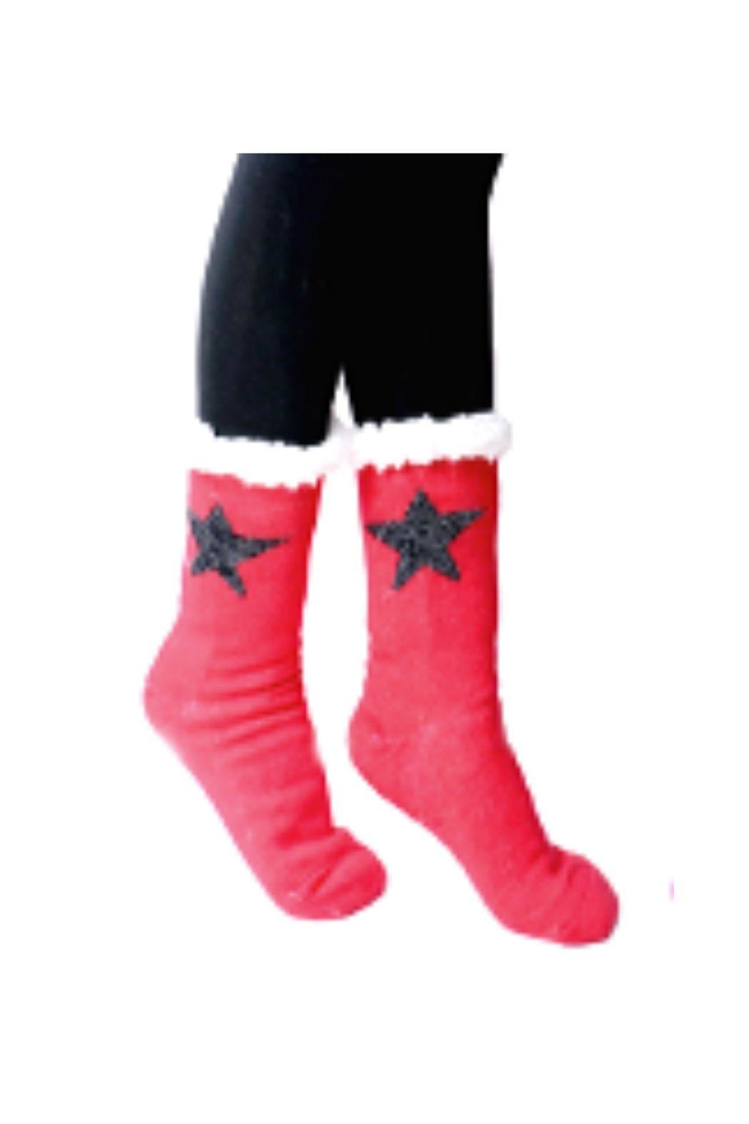 Lets Accessorize Star Slipper Socks - Front Cropped Image