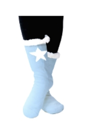 Lets Accessorize Star Slipper Socks - Front cropped