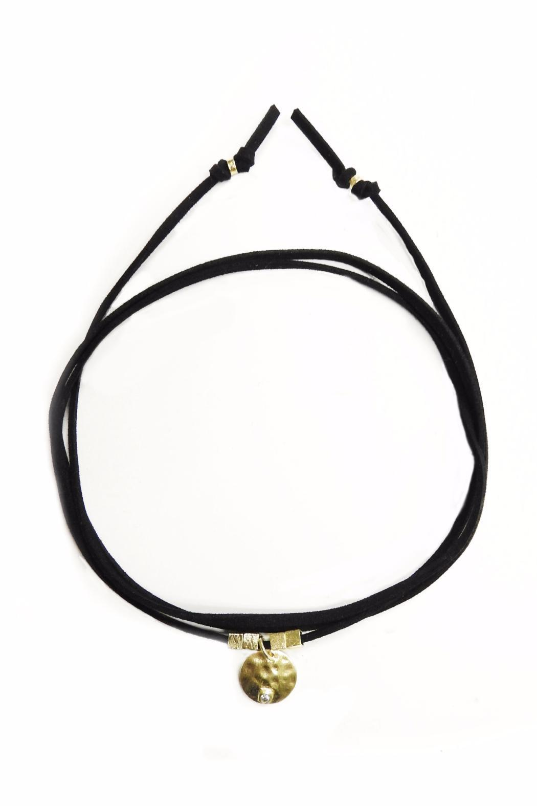 Lets Accessorize Suede Loop Choker - Main Image