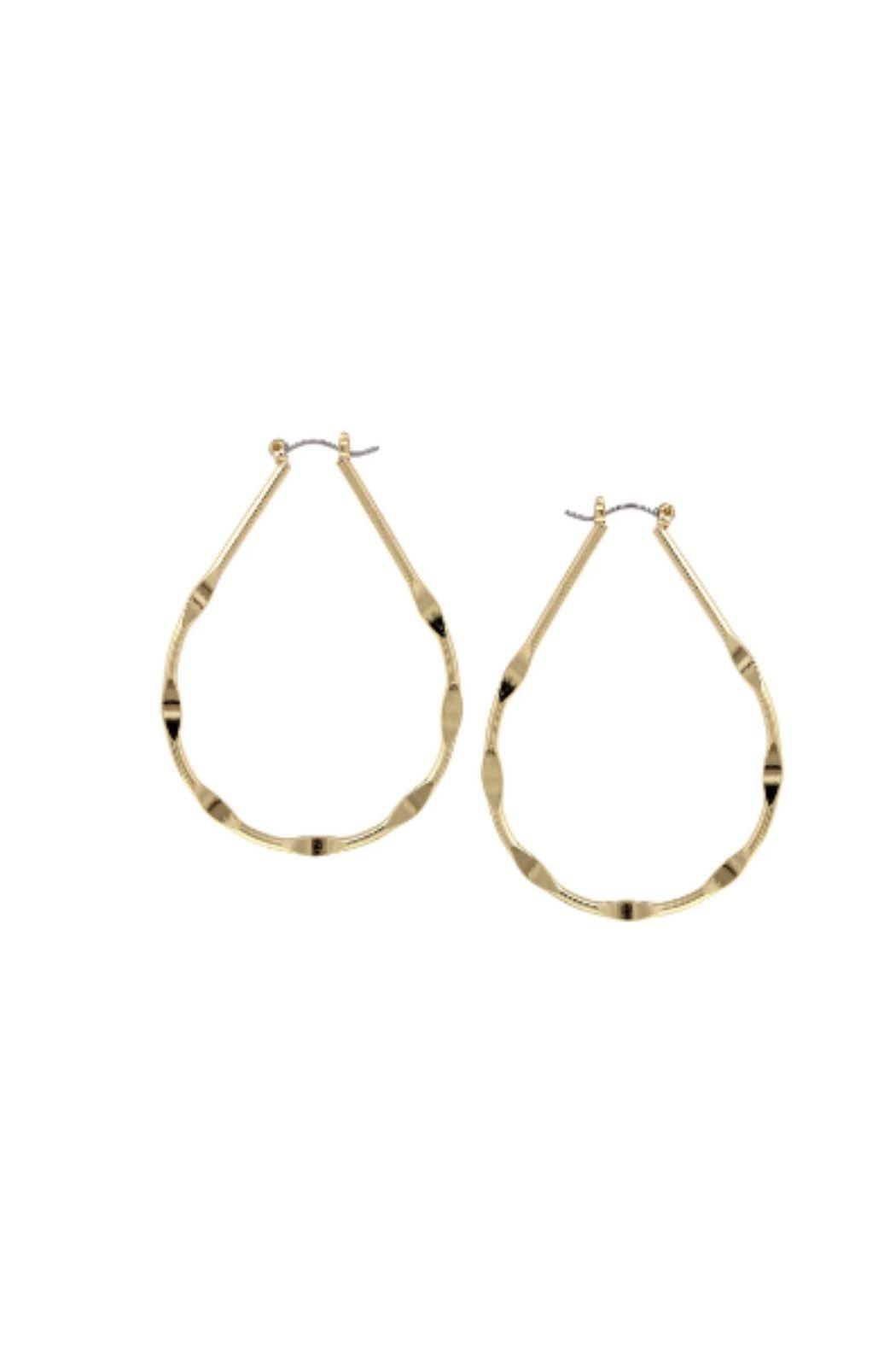 Lets Accessorize Teardrop Hoop Earrings - Main Image