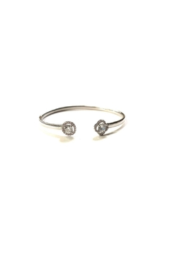 Lets Accessorize Textured Cz Bangle - Product List Image