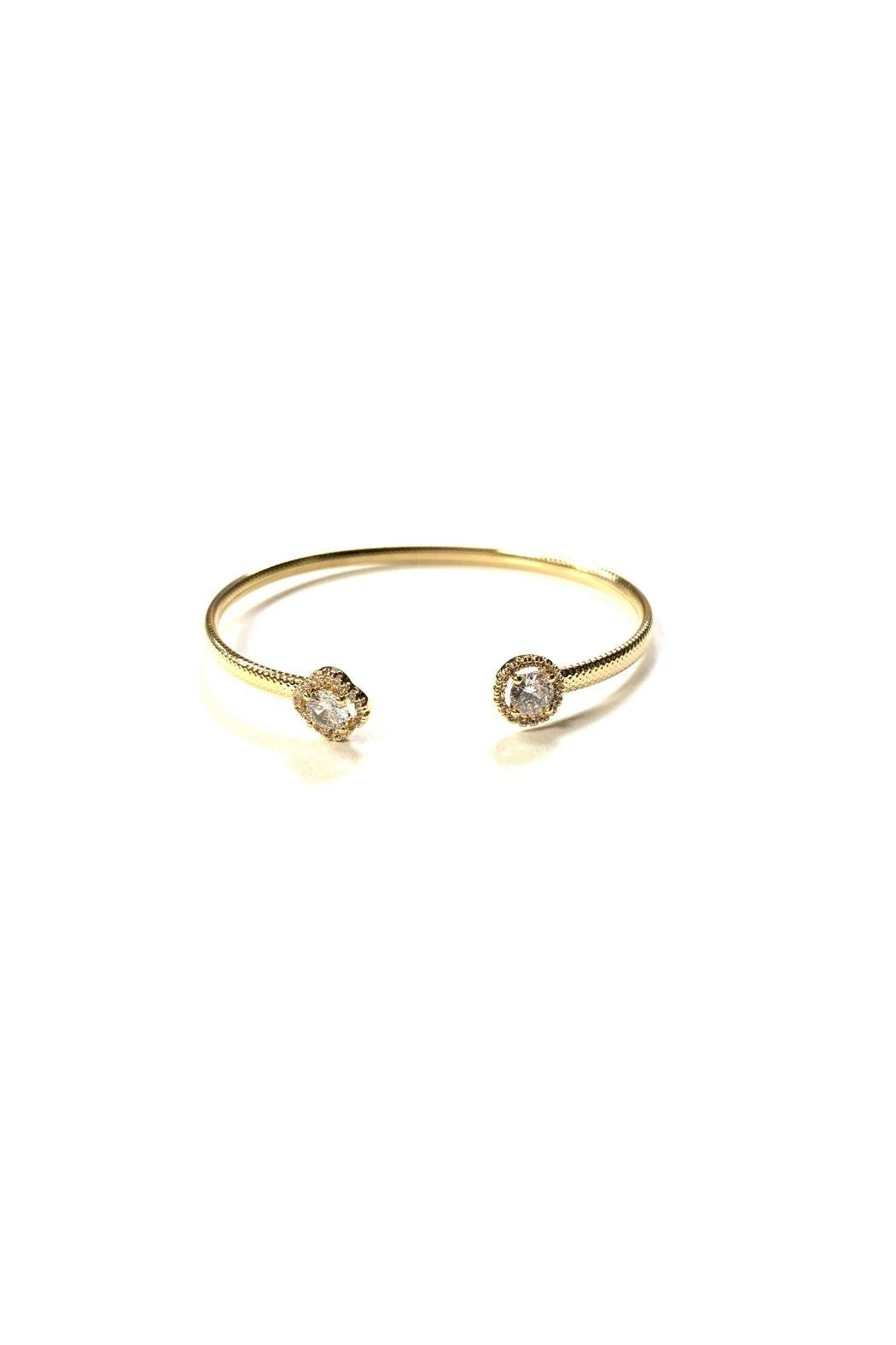 Lets Accessorize Textured Cz Bangle - Front Cropped Image