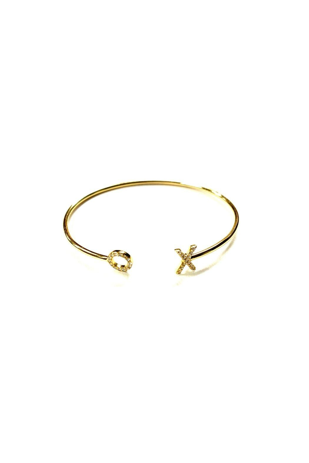 Lets Accessorize Xo Pave Bangle - Front Cropped Image