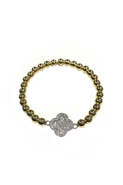 Lets Accessorize Yellow Clover Bracelet - Front cropped