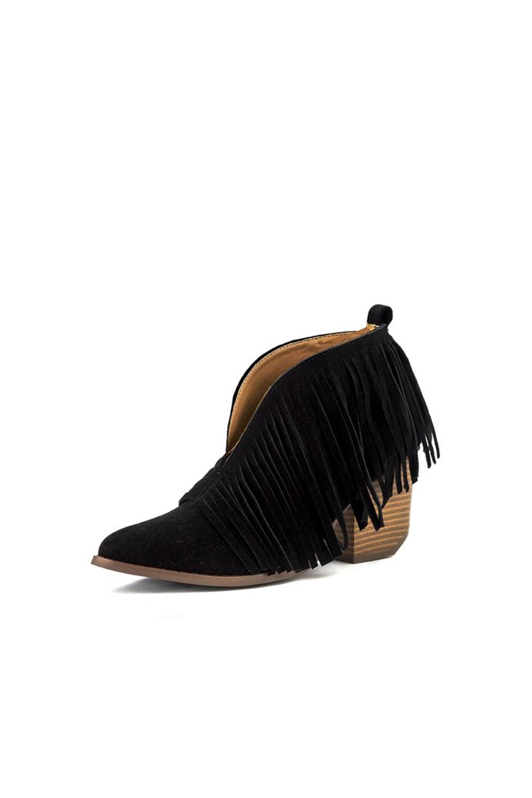 Fringe Cutout Booties