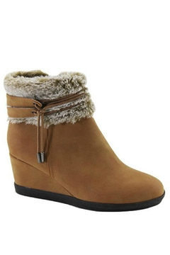 Lets See Style Fur Wedge Bootie - Alternate List Image