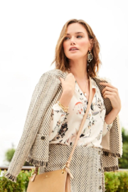 Spartina 449 Lettie Tweed Jacket - Back cropped
