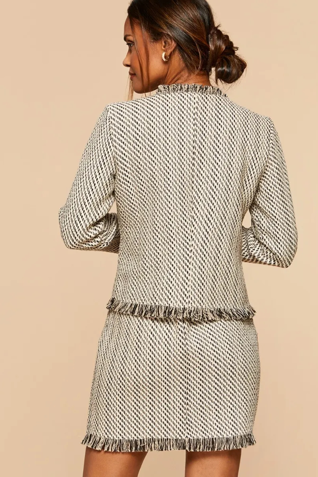 Spartina 449 Lettie Tweed Jacket - Front Full Image