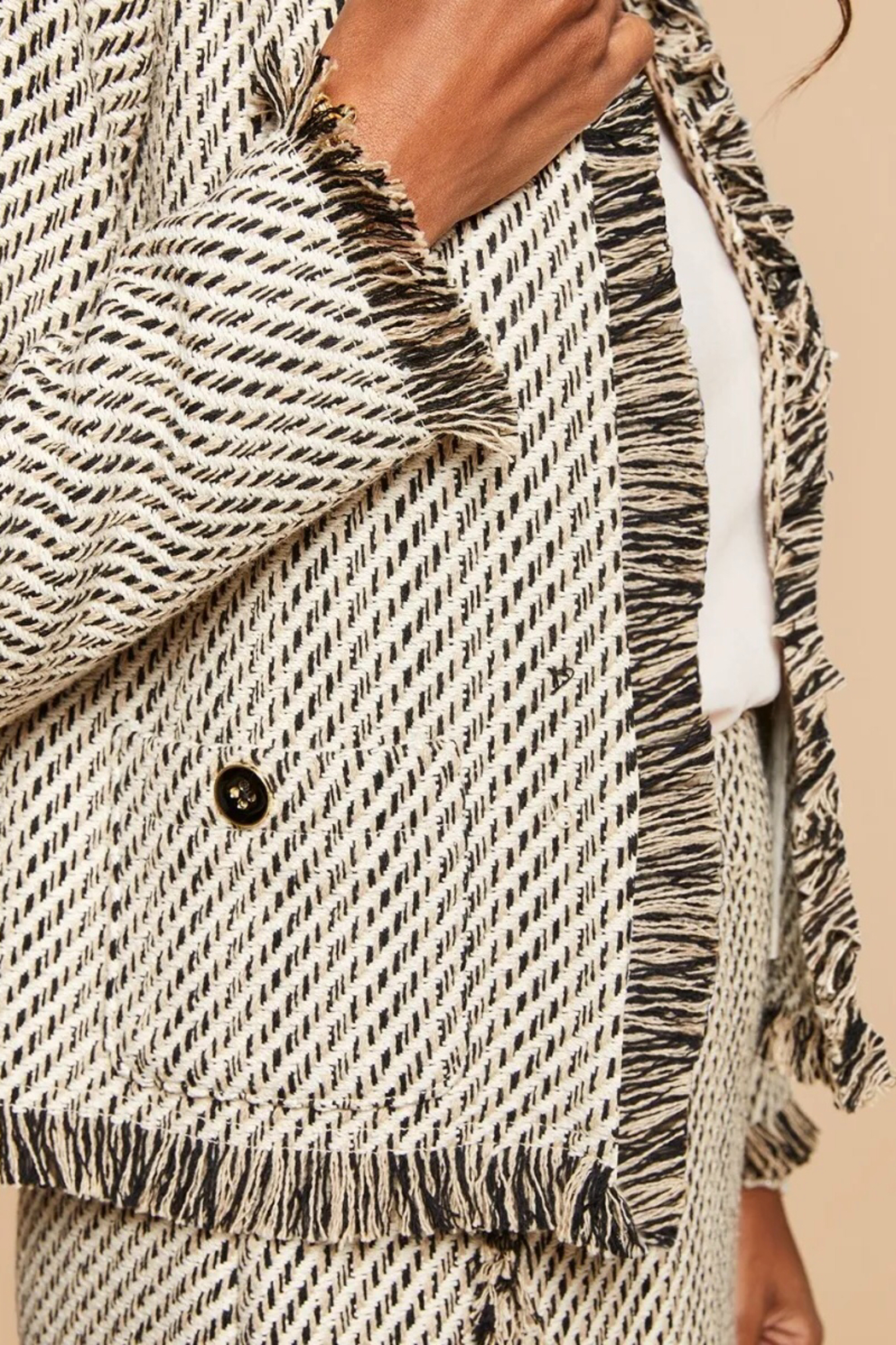 Spartina 449 Lettie Tweed Jacket - Side Cropped Image
