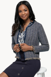 Spartina 449 Lettie Tweed Jacket - Product Mini Image