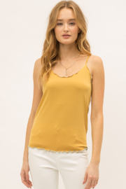 Mystree Lettuce Edge Tank Top - Product Mini Image