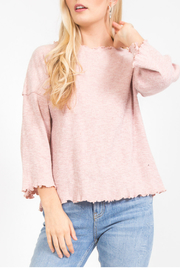 LoveRiche Lettuce hem top - Product Mini Image