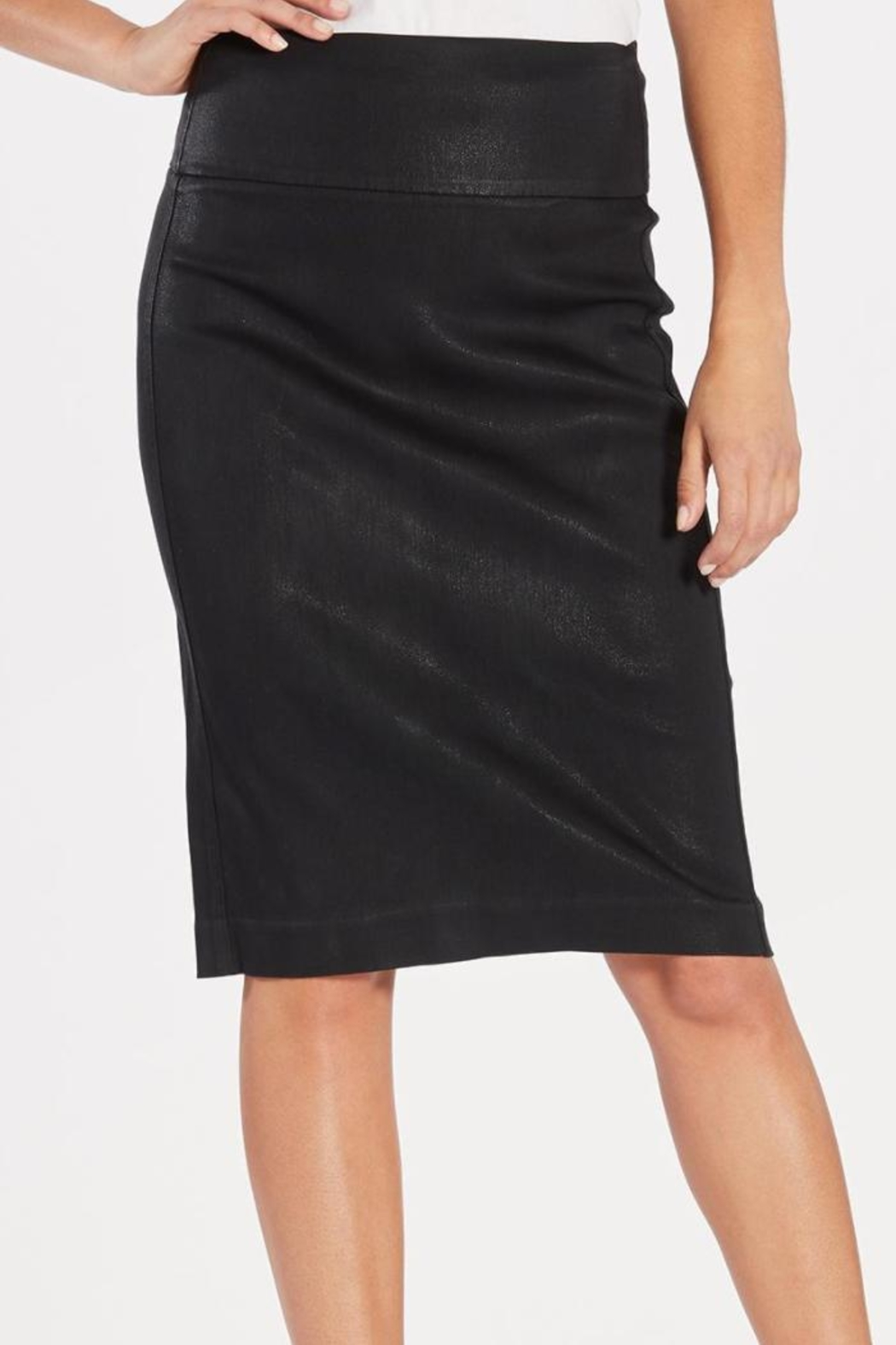 Level 99 Coated Sateen Skirt - Front Cropped Image