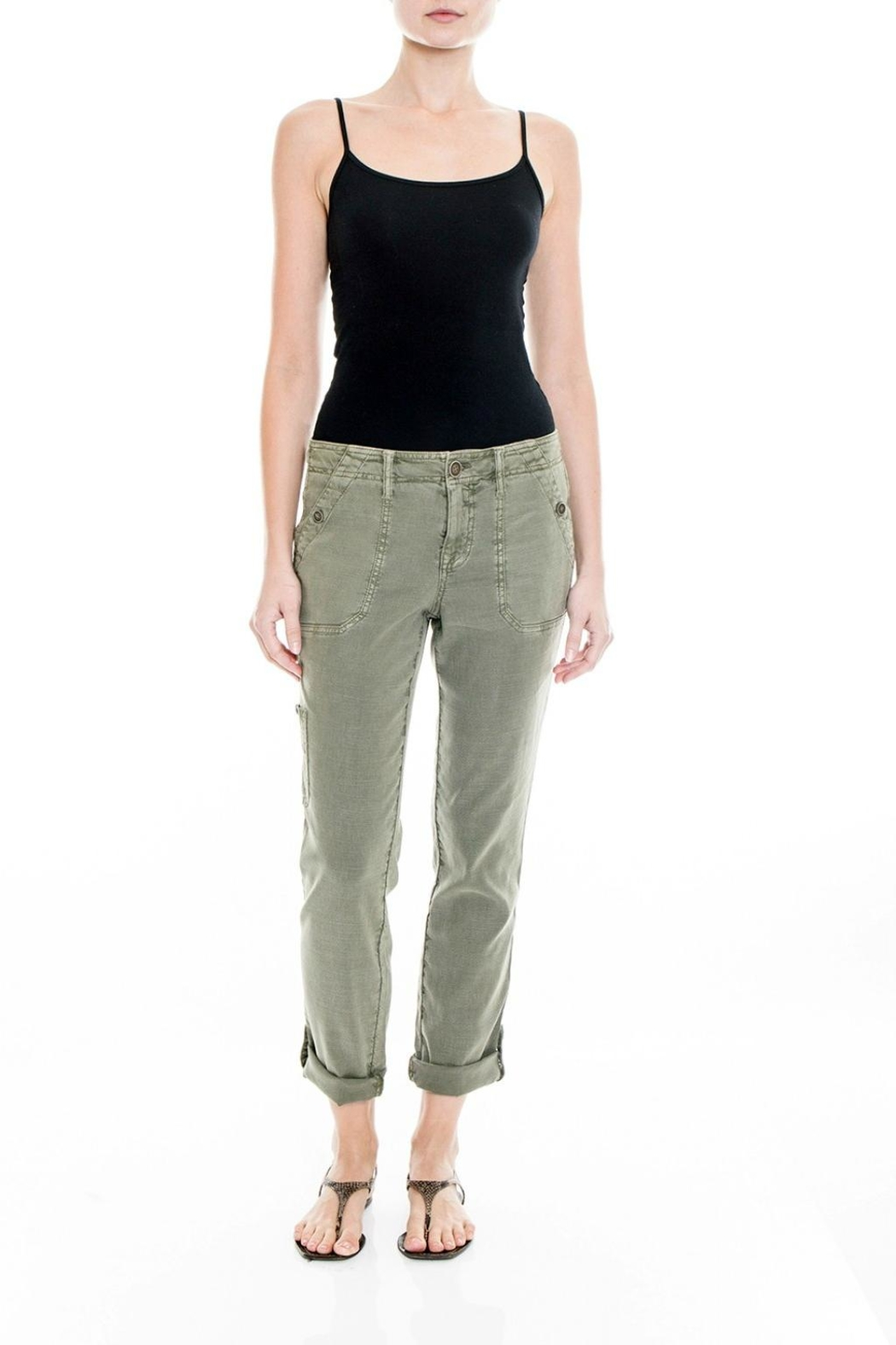 Level 99 Linen Dayla Pant - Front Cropped Image