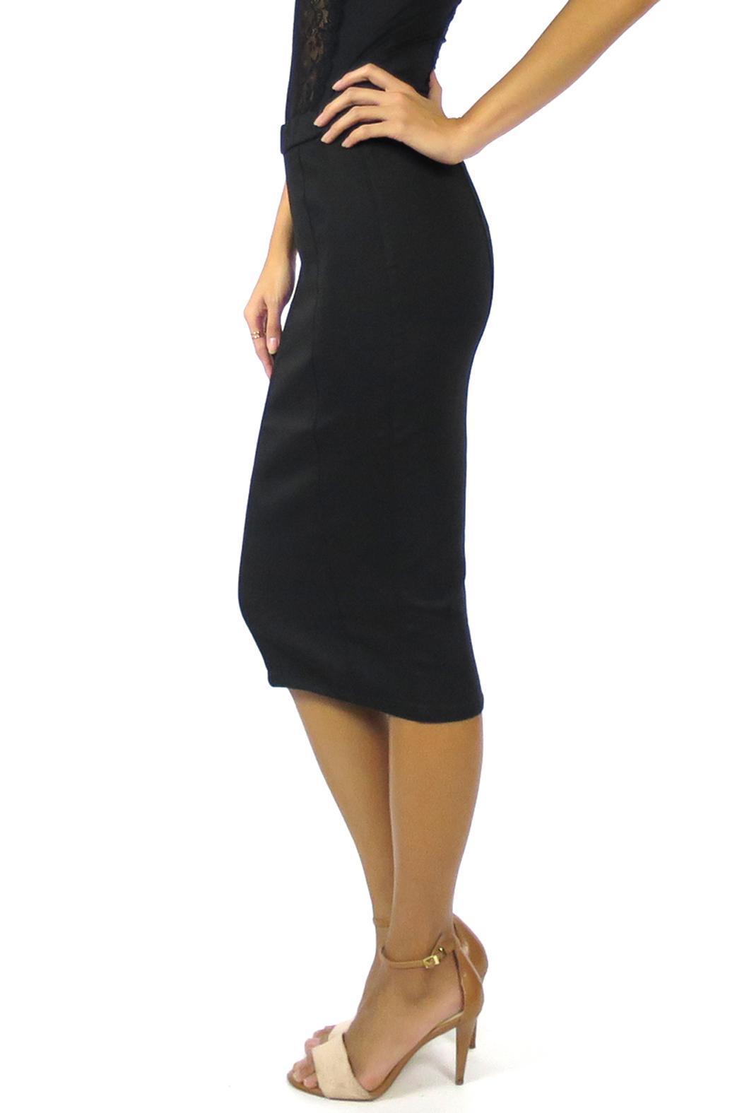Level 99 Pepper Pencil Skirt - Side Cropped Image