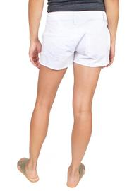 Level 99 White Cut-Off Shorts - Side cropped