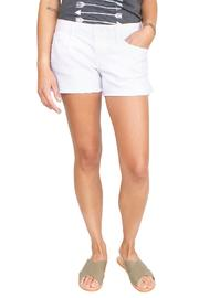Level 99 White Cut-Off Shorts - Front cropped
