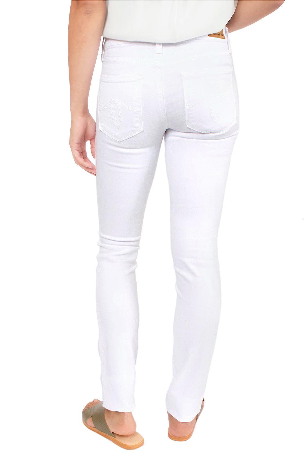 Level 99 White Skinny Jeans - Side Cropped Image