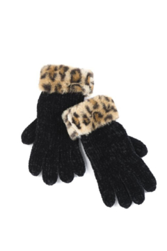Shiraleah Lexi Leopard Knit Gloves - Product List Image