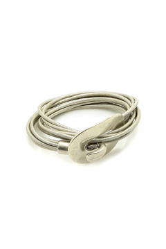 Shoptiques Product: Statement Leather Bracelet