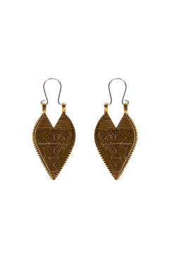 Shoptiques Product: Brass Lazarus Spear Earrings