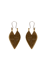 LHN Jewelry Brass Lazarus Spear Earrings - Product Mini Image