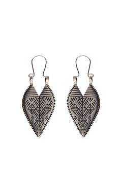 Shoptiques Product: Silver Lazarus Spear Earrings