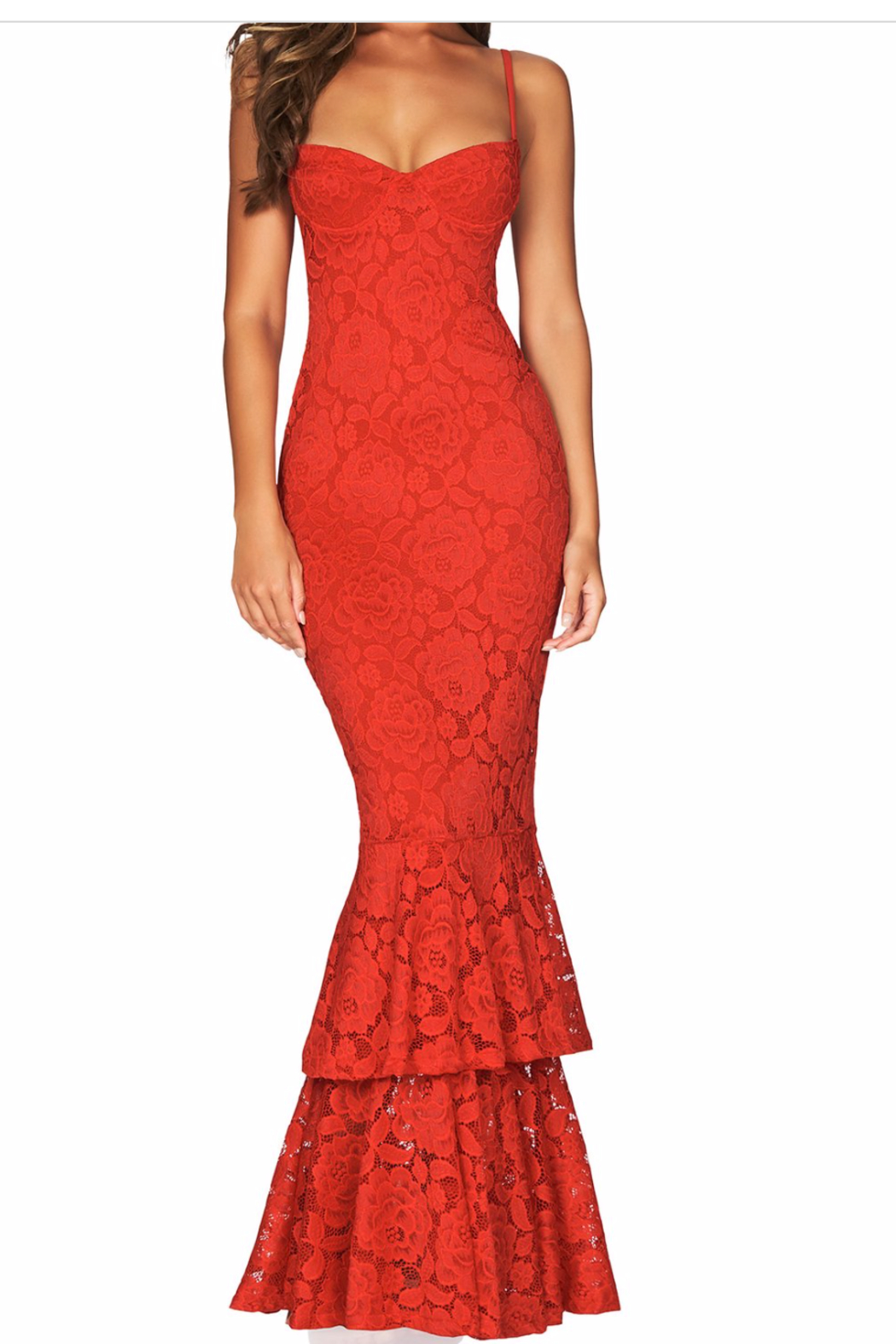 Nookie Liana Lace Gown - Side Cropped Image