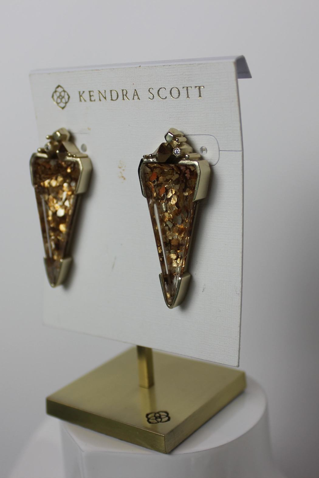 Kendra Scott Libby Triangle Earrings - Front Full Image
