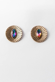 Libby Story Pyramid Eyes Studs - Product Mini Image