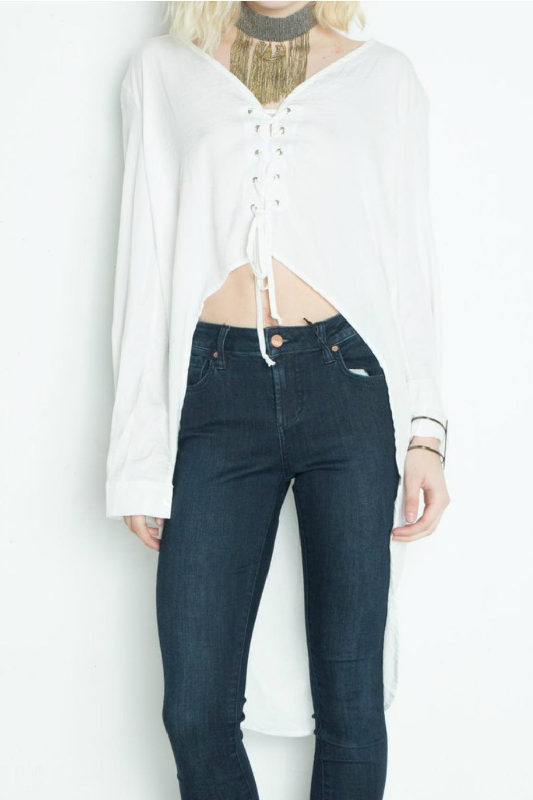 Libby Story Riviera High-Low Top - Back Cropped Image