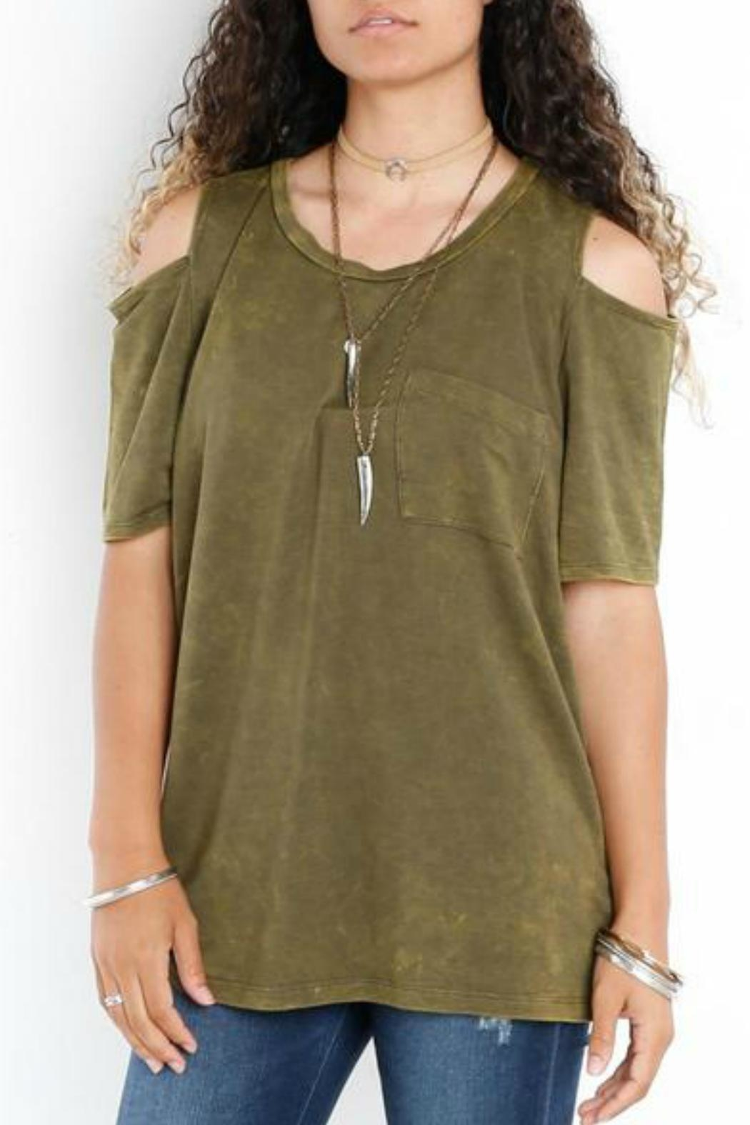 Libby Story Washed Open-Shoulder Tee - Main Image