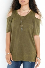 Libby Story Washed Open-Shoulder Tee - Front cropped