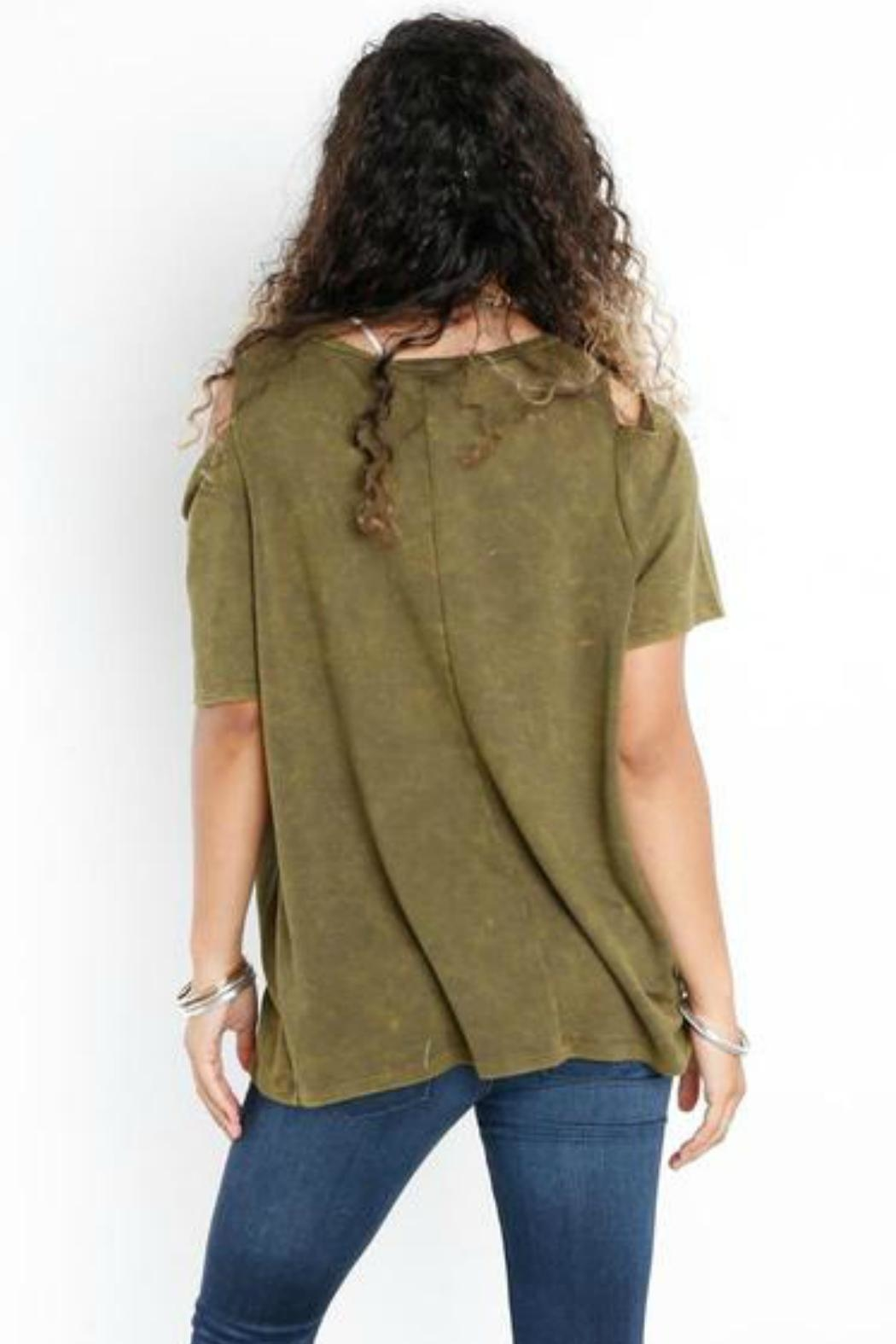 Libby Story Washed Open-Shoulder Tee - Front Full Image