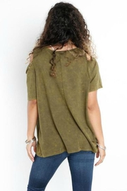 Libby Story Washed Open-Shoulder Tee - Front full body