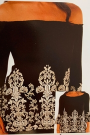 Liberty Wear Black Tunic-With White-Scrolls - Product Mini Image