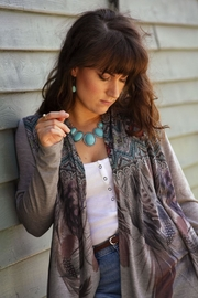 Liberty Wear Feather Tribal Cardigan - Front cropped