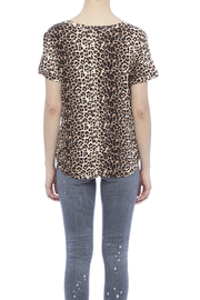 LIBIAN Leopard Print Top - Back cropped