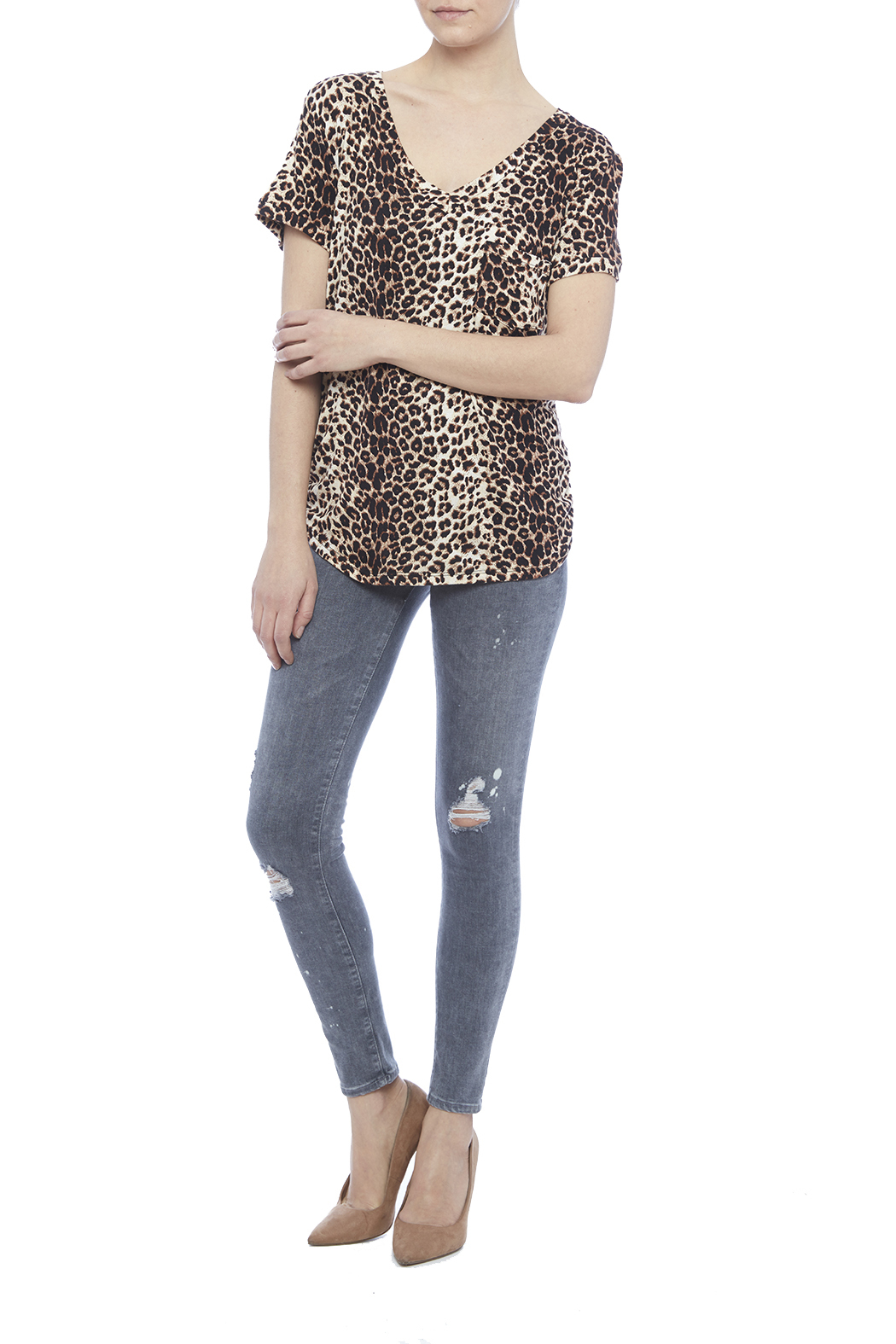 LIBIAN Leopard Print Top - Front Full Image