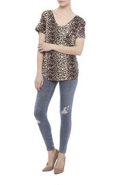 LIBIAN Leopard Print Top - Front full body