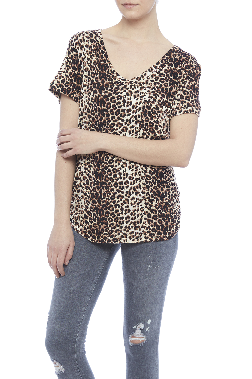 LIBIAN Leopard Print Top - Main Image