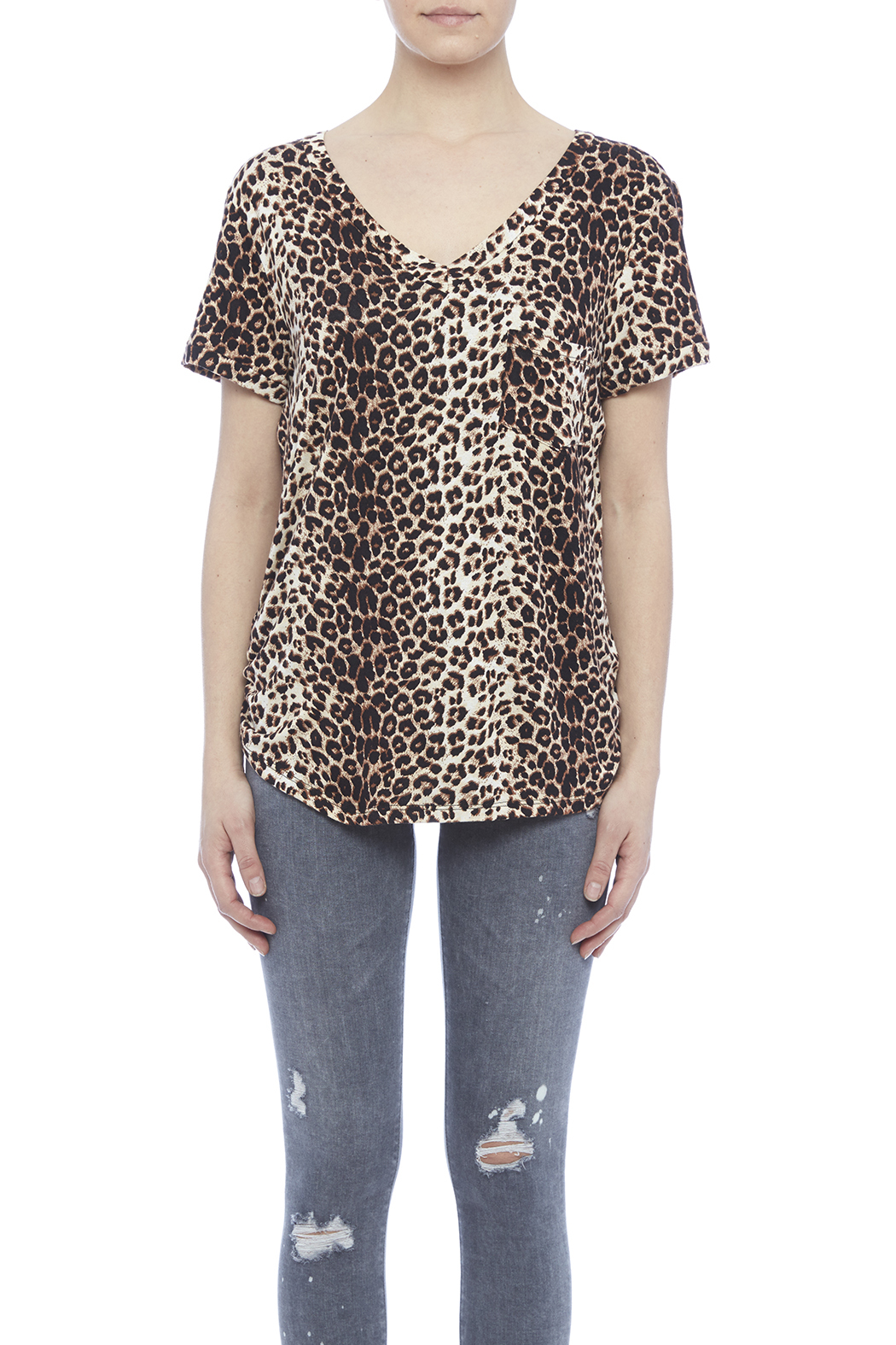 LIBIAN Leopard Print Top - Side Cropped Image