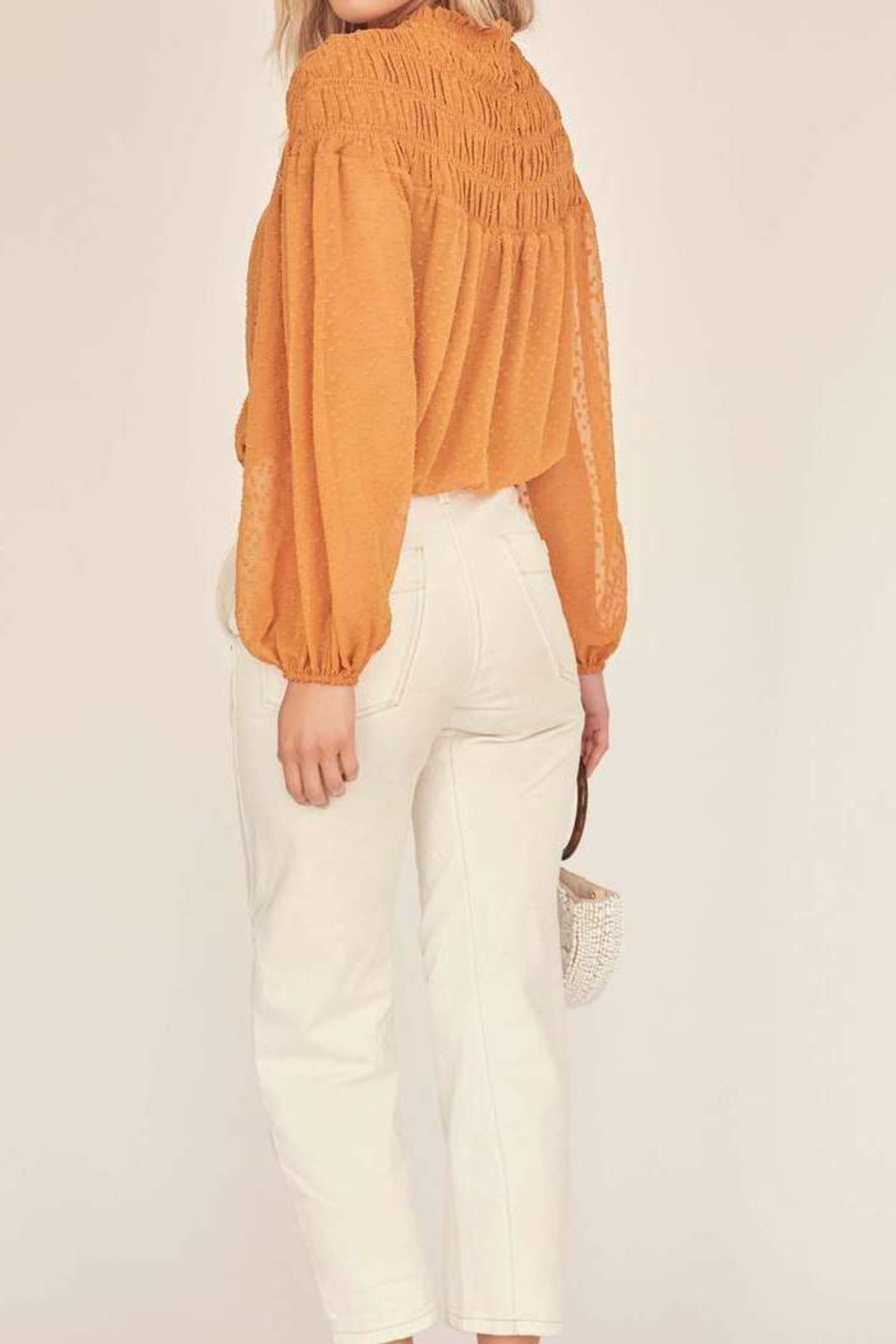 ASTR the Label Libra Mock Neck Top - Front Full Image