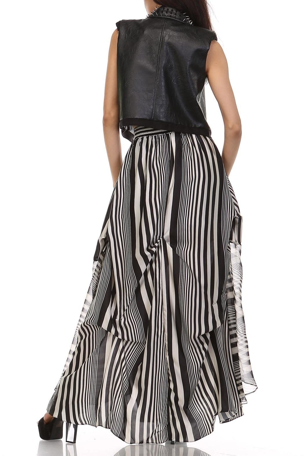 TOV Licorice Striped Maxi - Side Cropped Image