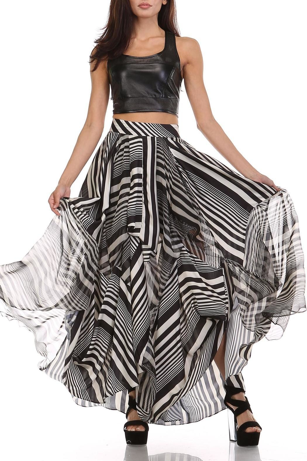 TOV Licorice Striped Maxi - Front Cropped Image