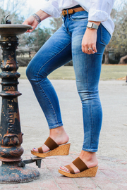 Charleston Shoe Co. LIDO WEDGE SANDAL - Front full body
